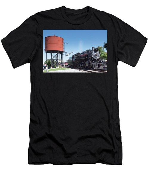 Old Number 90 Steam Engine Men's T-Shirt (Athletic Fit)