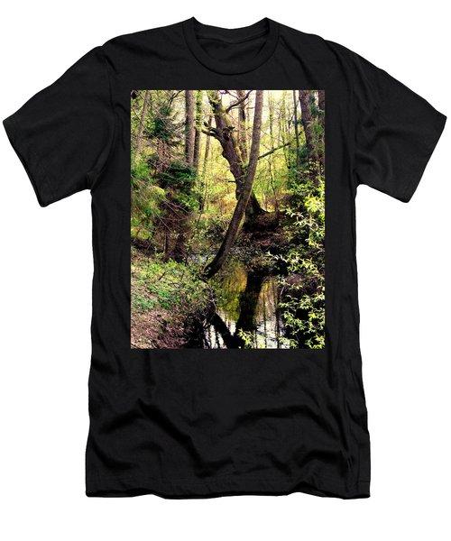 Old Oak Men's T-Shirt (Slim Fit) by Henryk Gorecki
