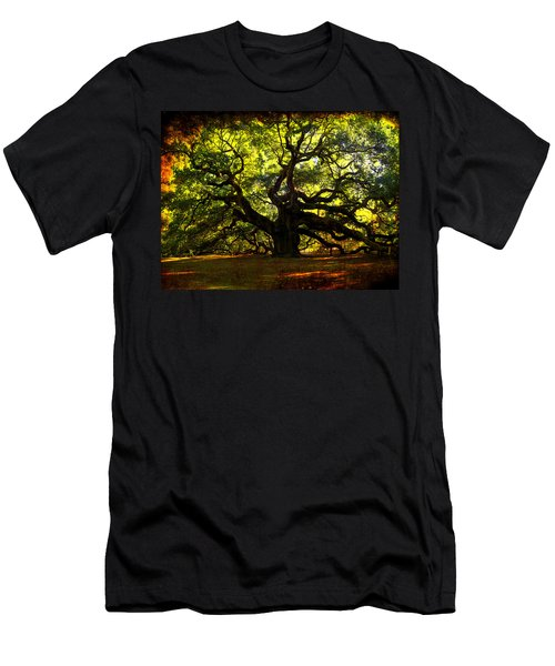 Old Old Angel Oak In Charleston Men's T-Shirt (Athletic Fit)