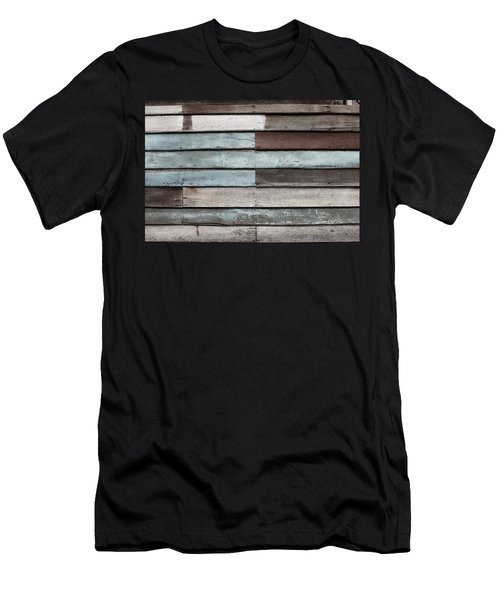 Old Pale Wood Wall Men's T-Shirt (Athletic Fit)