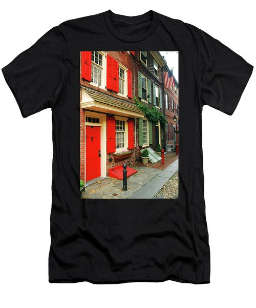 Old Philly Men's T-Shirt (Slim Fit) by James Kirkikis
