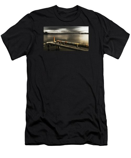 Men's T-Shirt (Slim Fit) featuring the photograph Old Pipe Line 01 by Kevin Chippindall