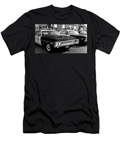 Old Police Car Men's T-Shirt (Slim Fit) by Paul Seymour