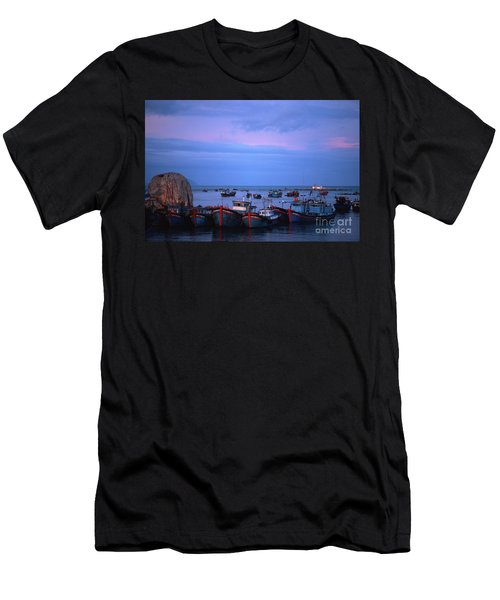 Men's T-Shirt (Athletic Fit) featuring the photograph Old Port Of Nha Trang In Vietnam by Silva Wischeropp