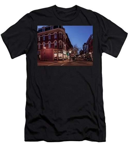 Old Port, Portland Maine Men's T-Shirt (Athletic Fit)