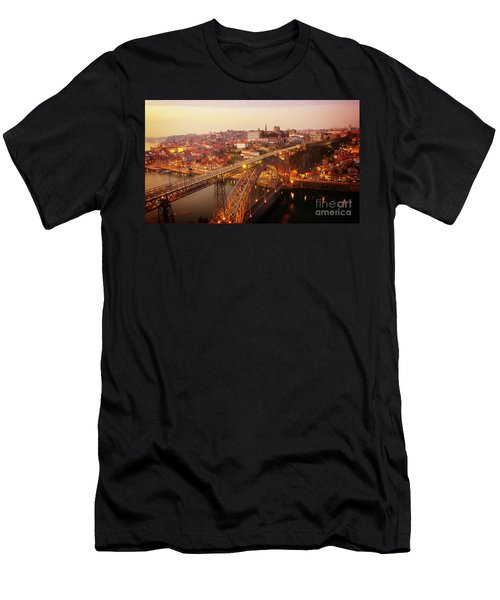 old Porto at  Pink Sunset, Portugal Men's T-Shirt (Athletic Fit)