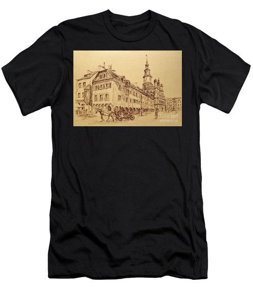 Old Poznan Drawing Men's T-Shirt (Athletic Fit)