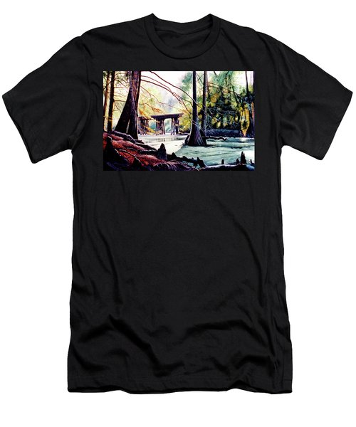 Old Railroad Bridge Men's T-Shirt (Athletic Fit)