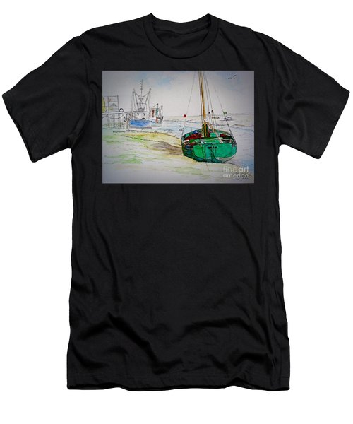 Old River Thames Fishing Boat Men's T-Shirt (Athletic Fit)