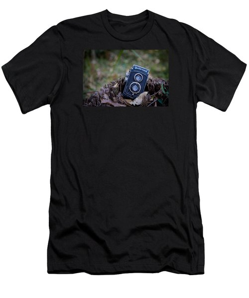 Men's T-Shirt (Slim Fit) featuring the photograph Old Rollei by Keith Hawley