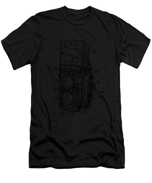 Men's T-Shirt (Athletic Fit) featuring the digital art Old Rollie Vintage Camera T-shirt by Edward Fielding