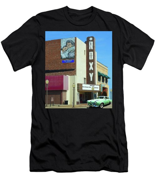 Old Roxy Theater In Muskogee, Oklahoma Men's T-Shirt (Athletic Fit)