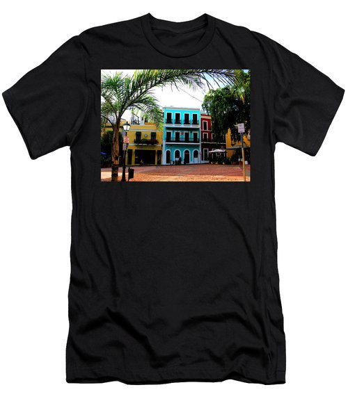 Men's T-Shirt (Athletic Fit) featuring the photograph Old San Juan Pr by Michelle Dallocchio