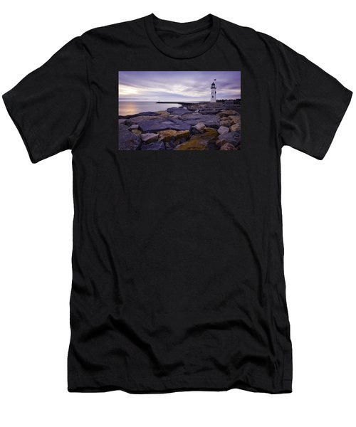 Old Scituate Light At Sunrise Men's T-Shirt (Athletic Fit)