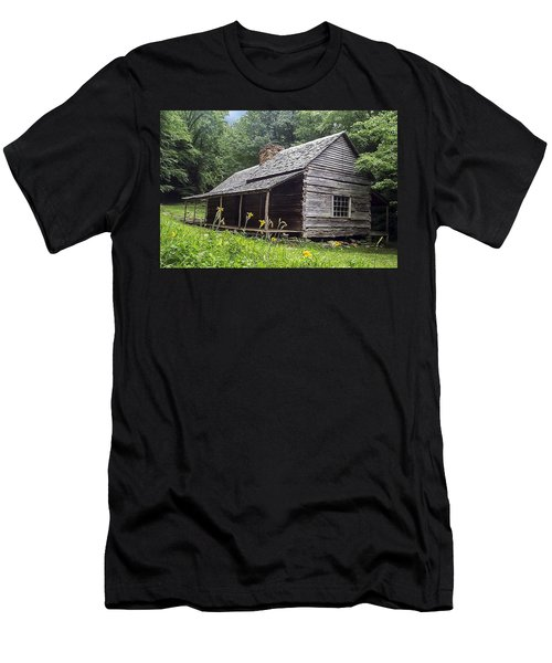 Old Settlers Cabin Smoky Mountains National Park Men's T-Shirt (Athletic Fit)