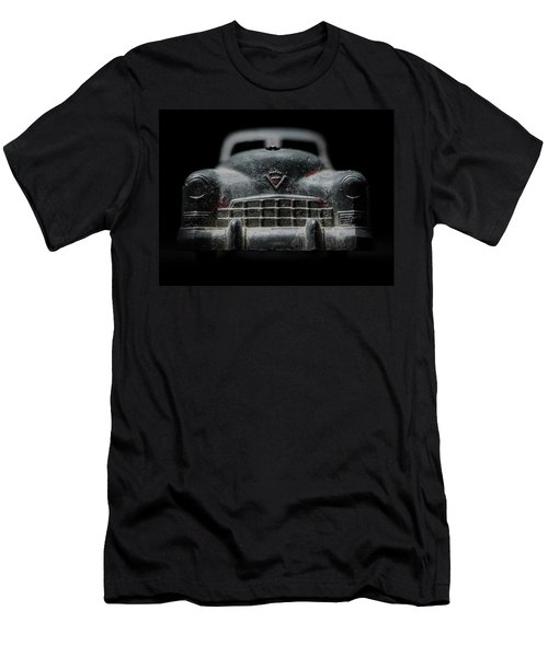 Old Silver Cadillac Toy Car With Specks Of Red Paint Men's T-Shirt (Athletic Fit)