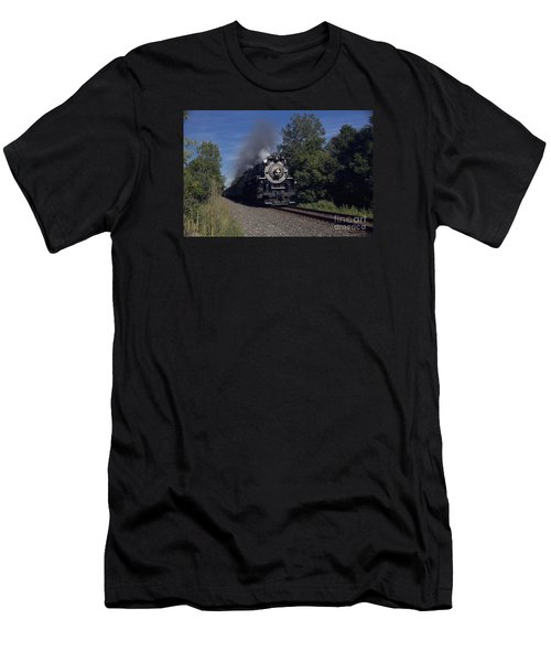 Men's T-Shirt (Slim Fit) featuring the photograph Old Steamer 765 by Jim Lepard