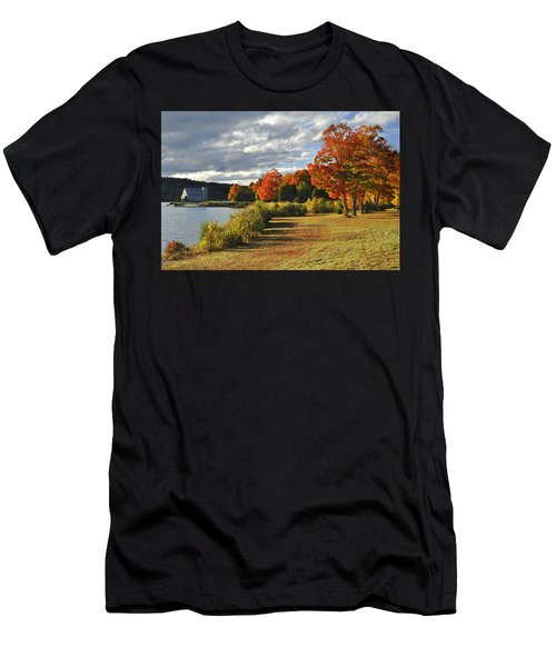 Old Stone Church Autumn Glow Men's T-Shirt (Athletic Fit)