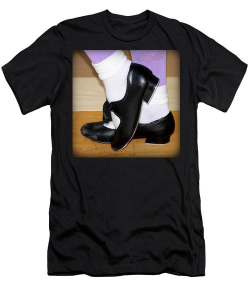 Old Tap Dance Shoes With White Socks And Wooden Floor Men's T-Shirt (Slim Fit) by Pedro Cardona