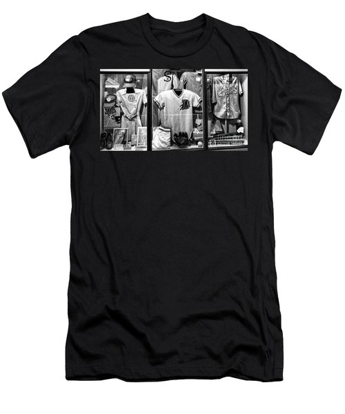Old Timers Baseball League Black White  Men's T-Shirt (Athletic Fit)