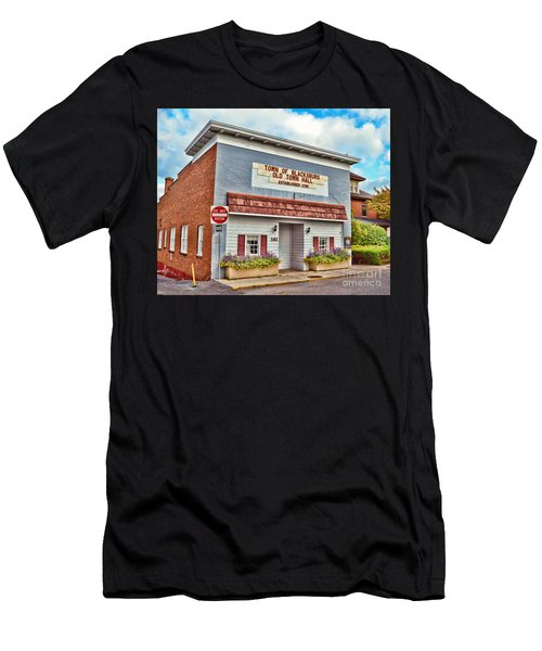 Old Town Hall Blacksburg Virginia Est 1798 Men's T-Shirt (Athletic Fit)