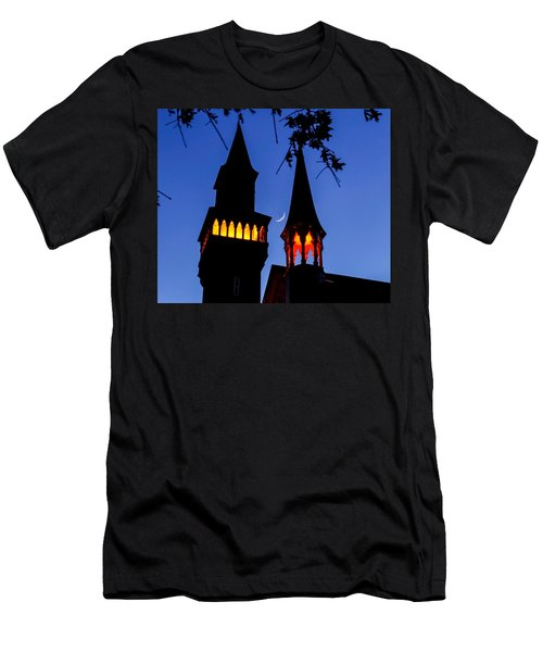 Old Town Hall Crescent Moon Men's T-Shirt (Athletic Fit)