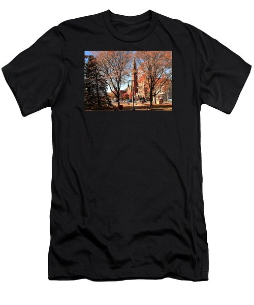 Old Town Hall In The Fall Men's T-Shirt (Athletic Fit)