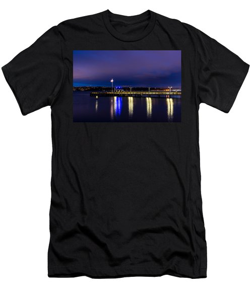 Old Town Pier During The Blue Hour Men's T-Shirt (Athletic Fit)