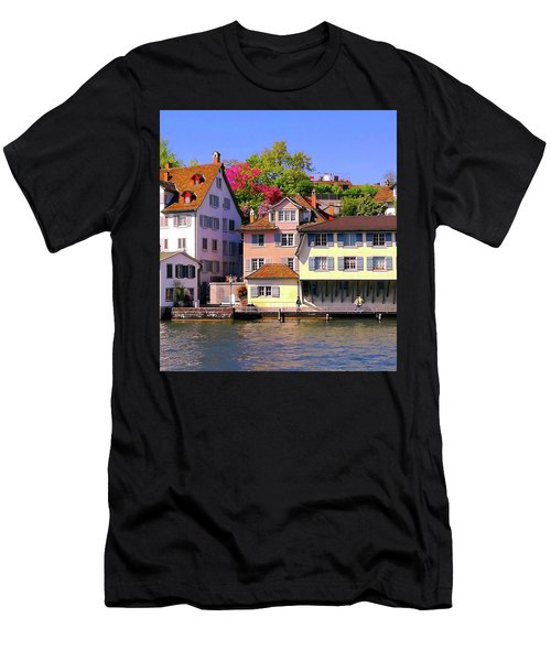 Old Town Zurich, Switzerland Men's T-Shirt (Athletic Fit)