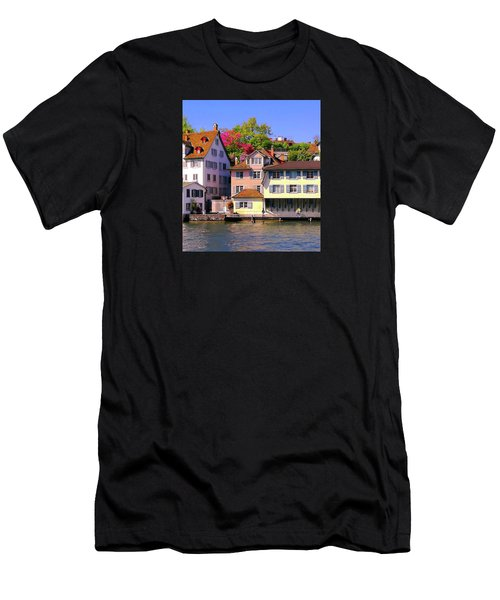 Old Town Zurich, Switzerland Men's T-Shirt (Athletic Fit)