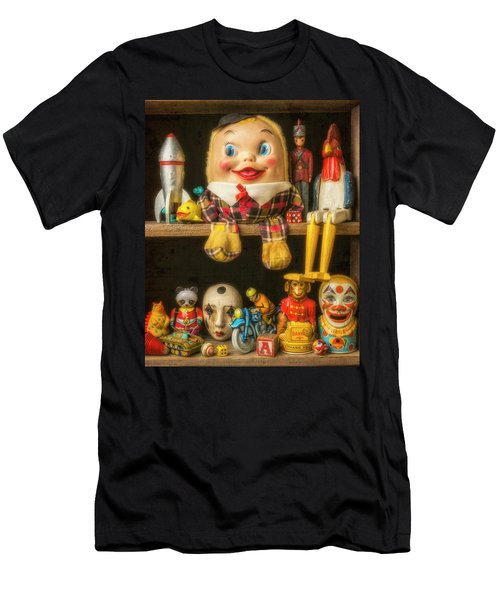 Old Toys Sitting On Shelf Men's T-Shirt (Athletic Fit)