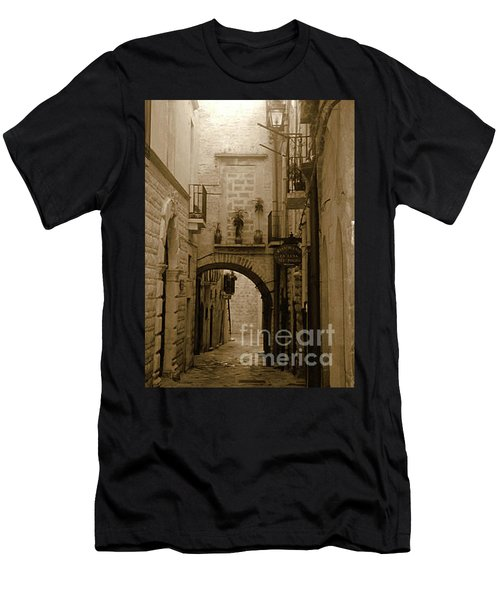 Men's T-Shirt (Athletic Fit) featuring the photograph Old Village Street by Frank Stallone