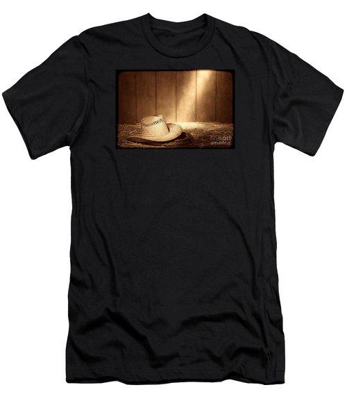 Old West Farmer Hat Men's T-Shirt (Athletic Fit)