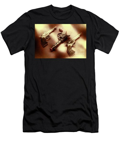 Old Western At Play Men's T-Shirt (Athletic Fit)