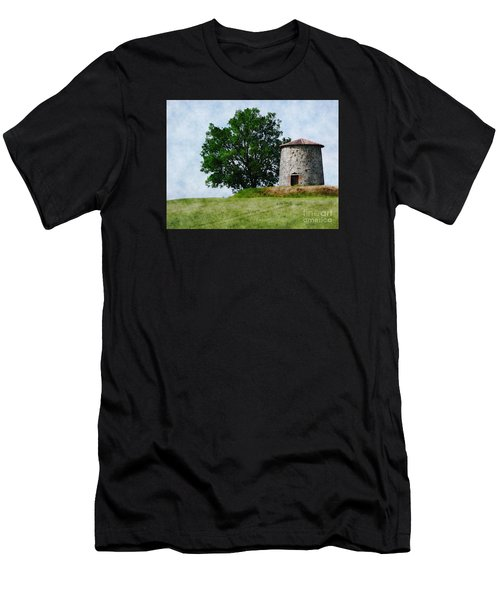 Men's T-Shirt (Slim Fit) featuring the photograph Old Windmill by Jean Bernard Roussilhe