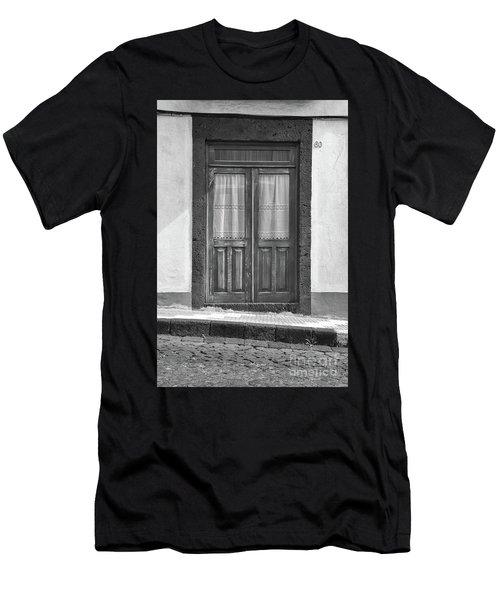 Old Wooden House Door Men's T-Shirt (Athletic Fit)