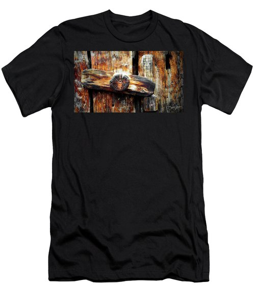 Old Wooden Latch Men's T-Shirt (Athletic Fit)