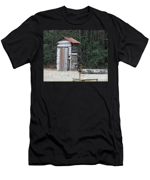 Oldtime Outhouse - Digital Art Men's T-Shirt (Athletic Fit)