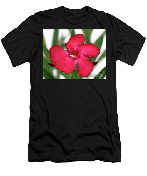 Oleander Blood-red Velvet 1 Men's T-Shirt (Athletic Fit)