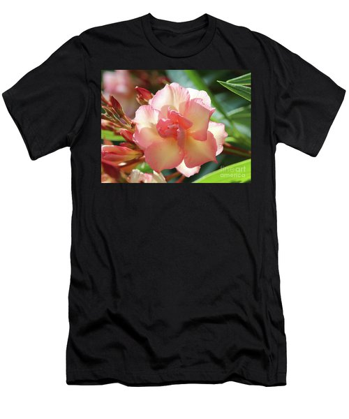 Men's T-Shirt (Slim Fit) featuring the photograph Oleander Mrs. Roeding 1 by Wilhelm Hufnagl