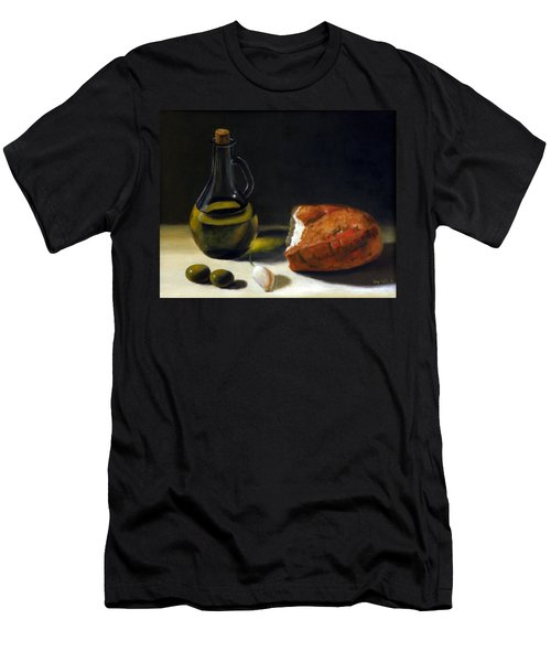 Olive Oil And Bread Men's T-Shirt (Athletic Fit)