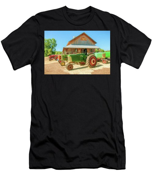 Oliver Row Crop At Unionville Grist Mill 1 Men's T-Shirt (Athletic Fit)