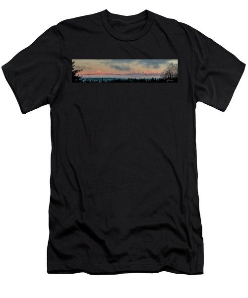 Olympic Mountains At Dawn.1 Men's T-Shirt (Athletic Fit)