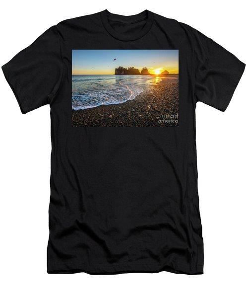 Men's T-Shirt (Slim Fit) featuring the photograph Olympic Peninsula Sunset by Martin Konopacki