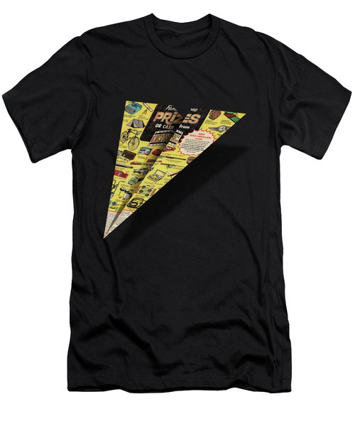 Olympic Sales Club Comic Book Ad Paper Airplane Men's T-Shirt (Athletic Fit)