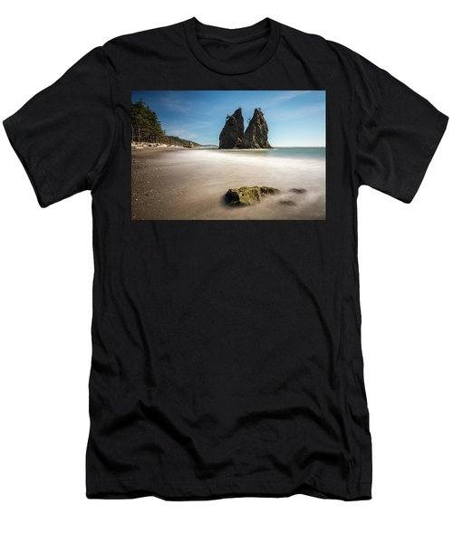 Men's T-Shirt (Athletic Fit) featuring the photograph Olympic Shoreline by Pierre Leclerc Photography