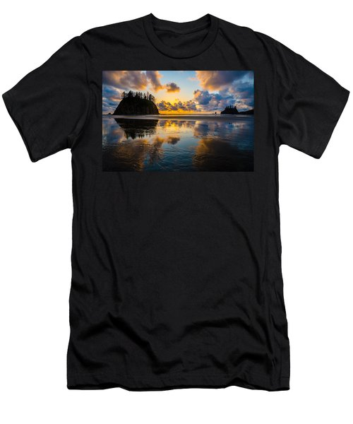 Olympic Sunset Glow Men's T-Shirt (Athletic Fit)
