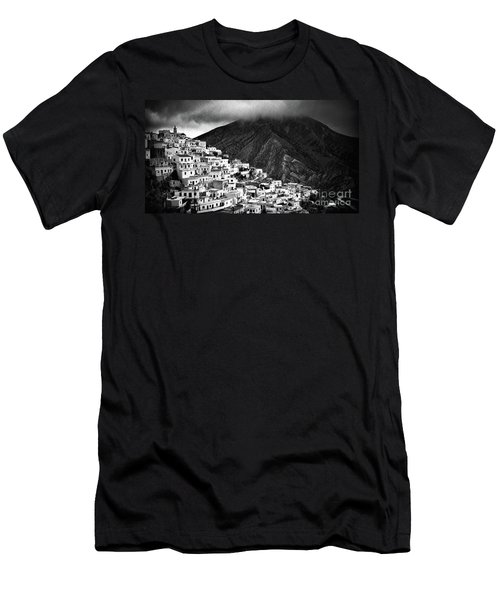 Olympos. Karpathos Island Greece Men's T-Shirt (Slim Fit) by Silvia Ganora