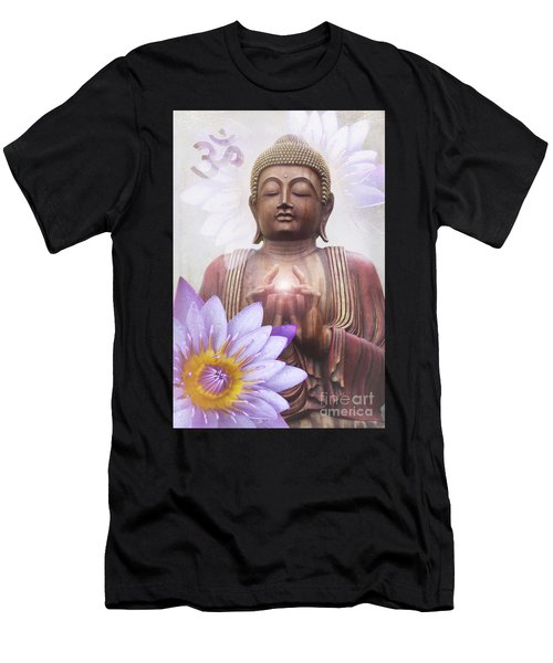 Om Mani Padme Hum - Buddha Lotus Men's T-Shirt (Athletic Fit)
