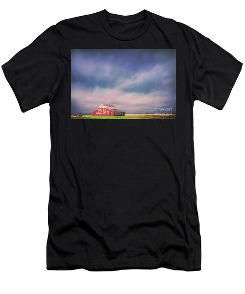 Ominous Clouds Over The Aggie Barn In Reagan, Texas Men's T-Shirt (Athletic Fit)